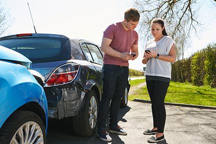 Car Accident Phone Exchange