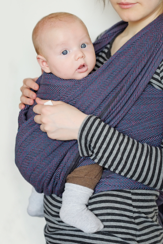 Holding baby in strap