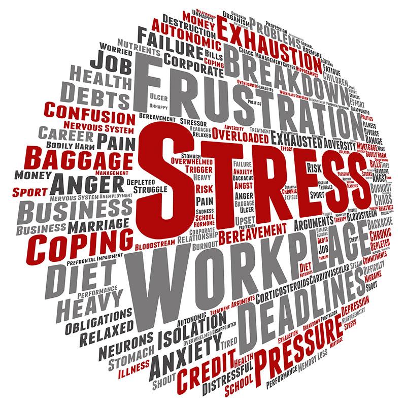 Globe with Stress related words Scottsdale AZ