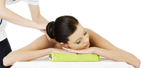 Woman Having Therapeutic Massage