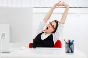 Upper Back Exercises in the Office