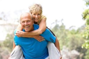 Older Couple Staying Fit