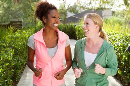 2 Women Walking to Stay Fit