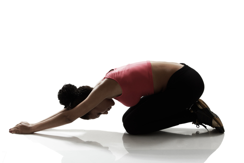 Woman stretching back