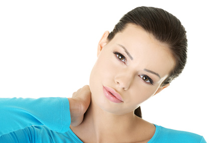 Woman with Neck Pain